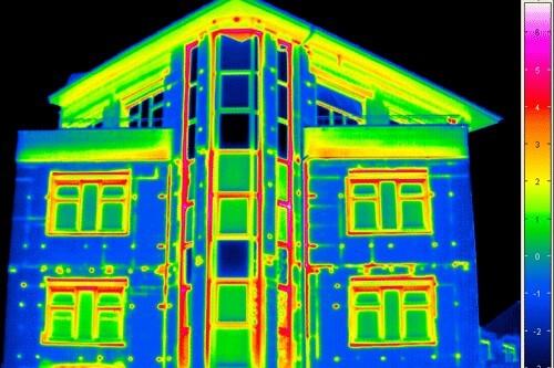 Тепловизионное обследование зданий (фото)