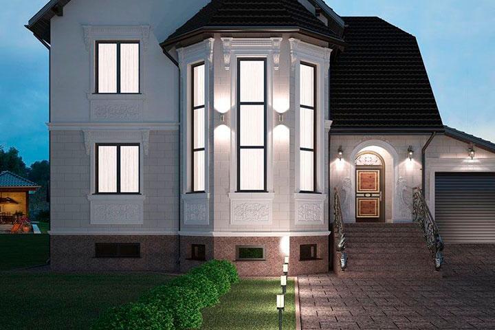 Проект фасада (рисунок)