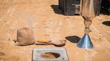 Испытание песчаного основания