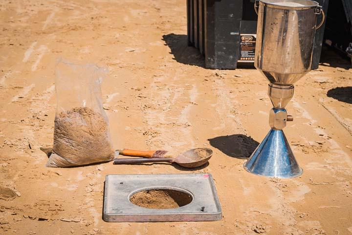 Эксперт-Строй Про: Испытание песчаного основания в Москве и Московской области